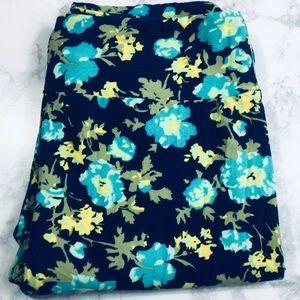 LulaRoe Floral Leggings One Size